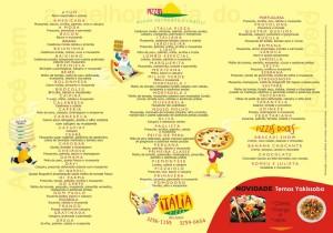 Cardápio da Pizzaria Itália
