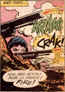 written by Bob Haney and illustrated by Jack Abel[6] in Star Spangled War Stories #102 (Apr._May 1962)