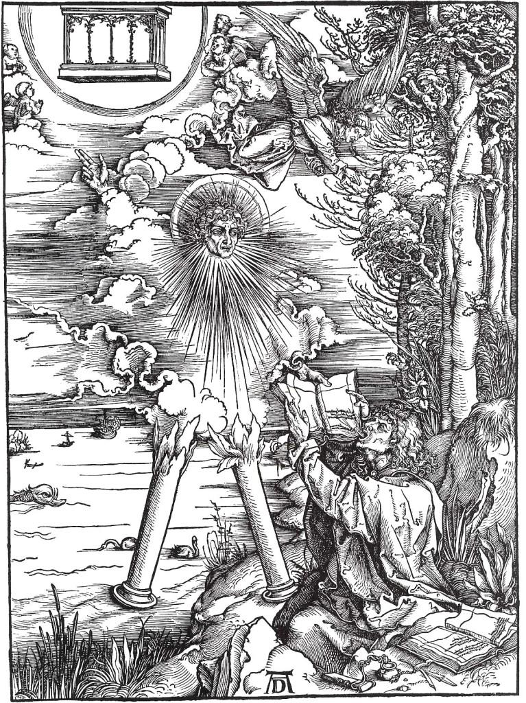 Albrecht Dürer, São João devora o livro (da série Apocalipse), 1498 (xilogravura)