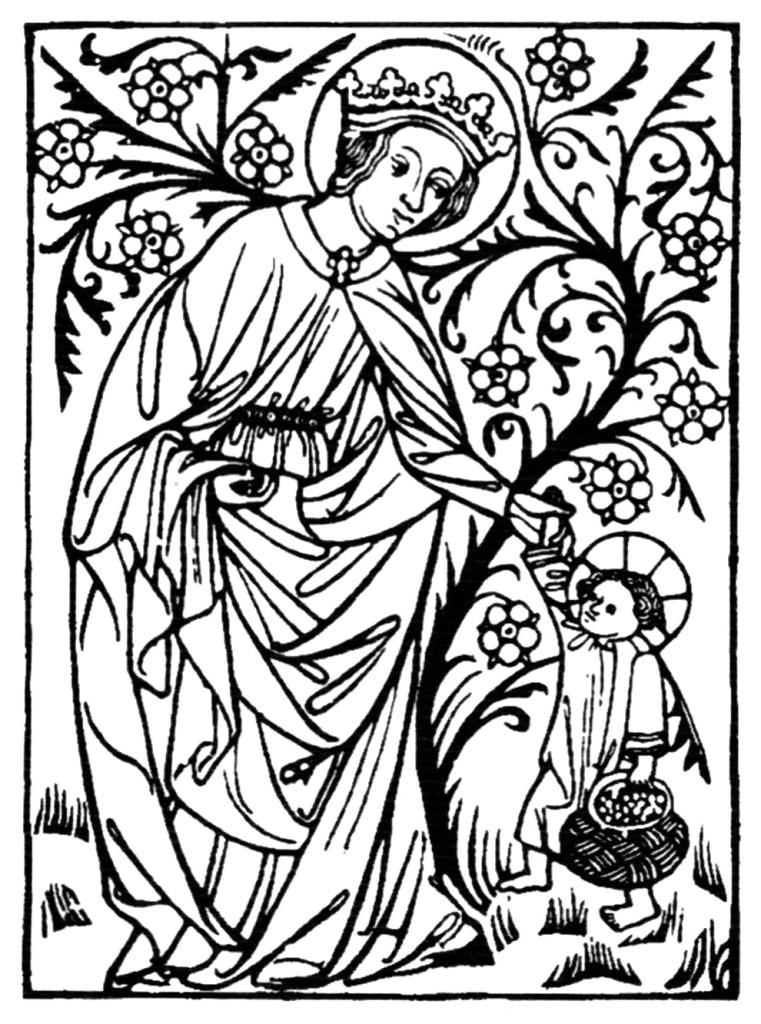 Anônimo, Santa Doroteia, 1443 (gravura em madeira)